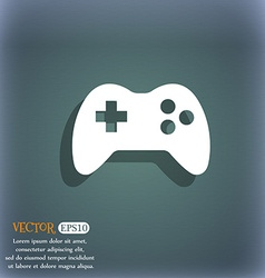 Joystick sign icon video game symbol on the vector