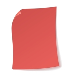 Pink sheet of paper icon vector