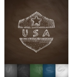 Usa icon hand drawn vector