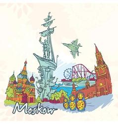 moskow doodles vector image