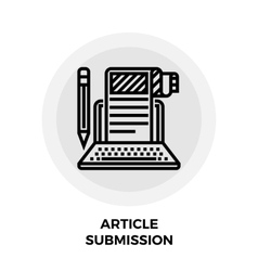 Article submission icon vector