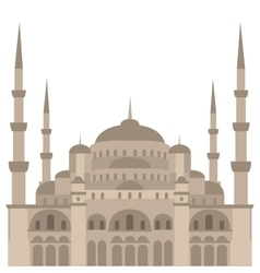 The blue mosque sultanahmet camii istanbul vector