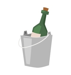 Champagne bucket vector
