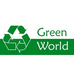 Recycle symbol or sign of conservation green icon vector