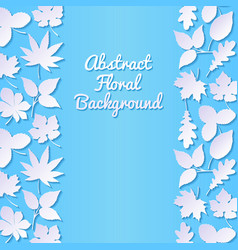 abstract background with paper leaves vector image vector image