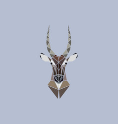 Abstract head of african waterbuck vector
