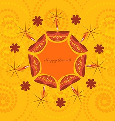 artistic diwali background vector image vector image