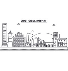 australia hobart architecture line skyline vector image vector image