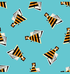 bees seamless pattern abstract honeybee colorful vector image vector image