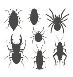 Beetle silhouette vector