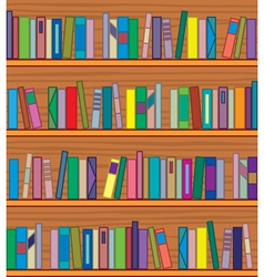 bookshelf with books vector image vector image