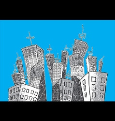 cartoon concrete city vector image