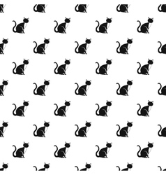 Cat pattern simple style vector image vector image