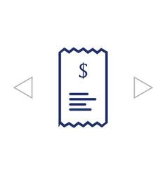 Checkout receipt or purchase receipt line art vector