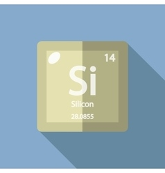 Chemical element silicon flat vector