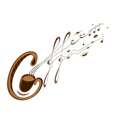 Coffee and music lettering vector