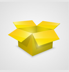 color open box yellow vector image