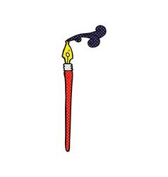 Comic cartoon ink pen vector