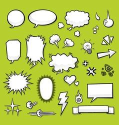 Comic elements vector