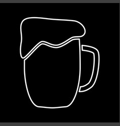 cup beer it is icon vector image