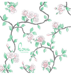 Delicate flowers on a light background vector