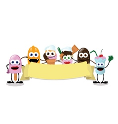 Funny Ice Cream Banner vector image vector image