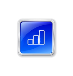 Graph icon on blue button vector image