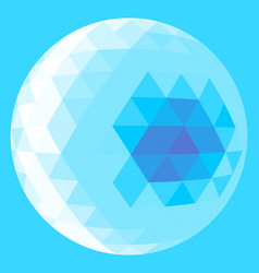 light blue triangle sphere vector image vector image