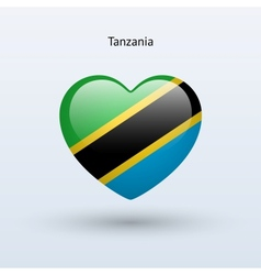 Love tanzania symbol heart flag icon vector