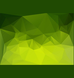 low polygonal green magic vector image vector image