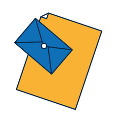 mail icon over white background vector image