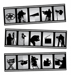 movie filmstrip vector image