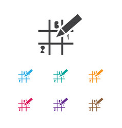 Of game symbol on sudoku icon vector