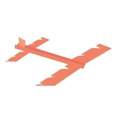 Paper plane futurist model fly vector