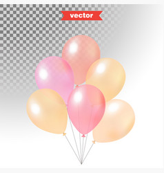 Pastel colored shine transparent air balloons vector