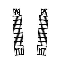 pisa tower it is black icon vector image