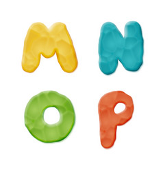 Plasticine clay alphabet vector