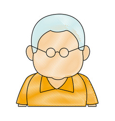 portrait man people senior cartoon image vector image vector image