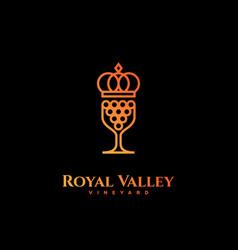 Royal valley logo vector