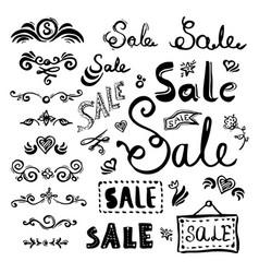 sale lettering set vector image vector image