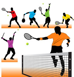 tennis set02 vector image