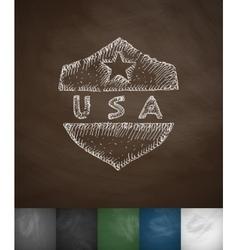 Usa icon hand drawn vector