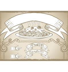 vintage graphic element for first course menu vector image vector image