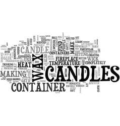 Why candles text word cloud concept vector