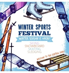 Winter Sport Poster vector image vector image