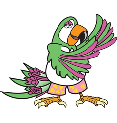 Tropical parrot dance vector
