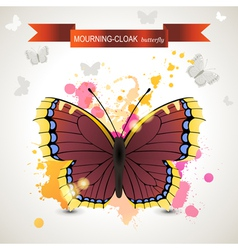 Mourning cloak butterfly vector