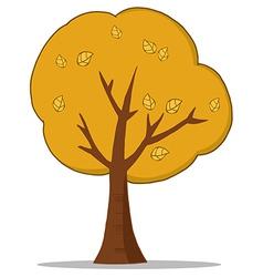 Cartoon Autumn Tree vector image