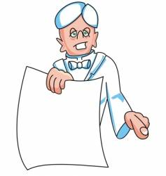 man holding paper vector image