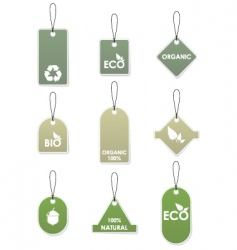 Eco recycling tags vector